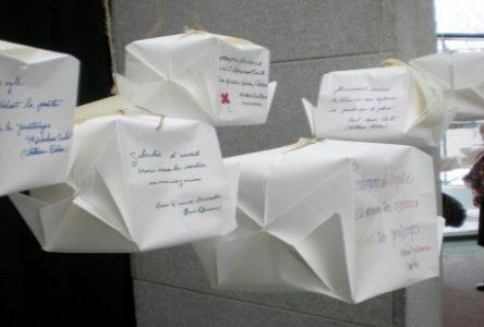 Des haïkus à la nord-côtière mis en origami
