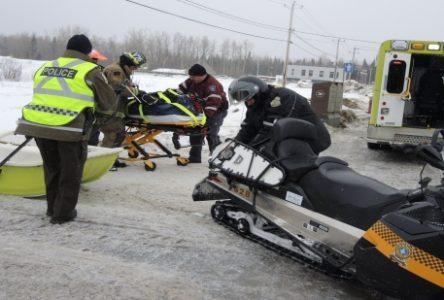Dernière heure: une collision entre deux motoneiges fait deux blessés mineurs