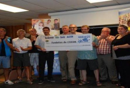 Randonnée Vélo Santé : Un montant de 145 000 $ remis à la Fondation du CSSSM