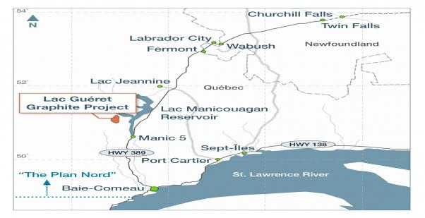 Mason Graphite : La propriété du lac Guéret pourrait être exploitée pour 90 M $