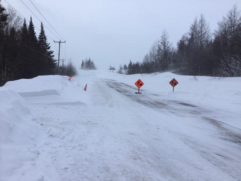 Mur de neige : la situation revient à la normale à Pointe-Lebel