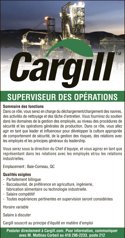 SUPERVISEUR DES OPÉRATIONS