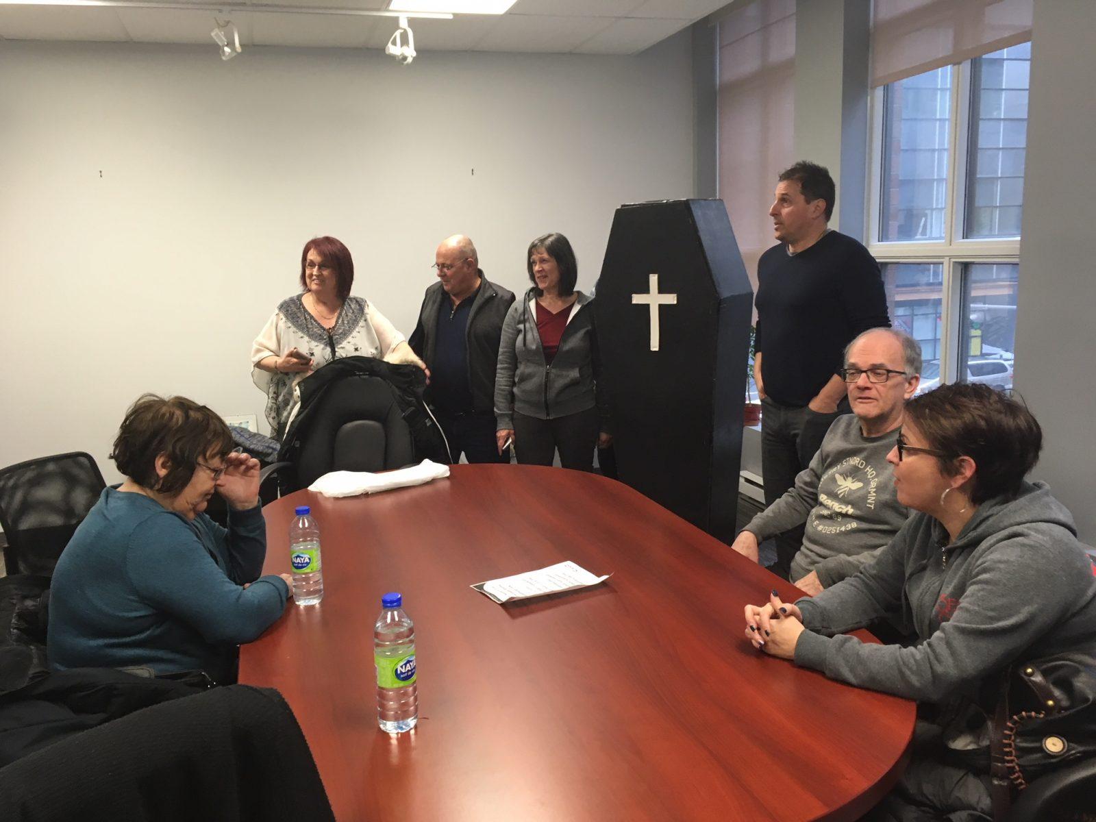 Trou noir : la CSN occupe le bureau de Justin Trudeau