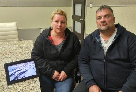 La Sécurité civile évacue le couple Boissinot-Foster