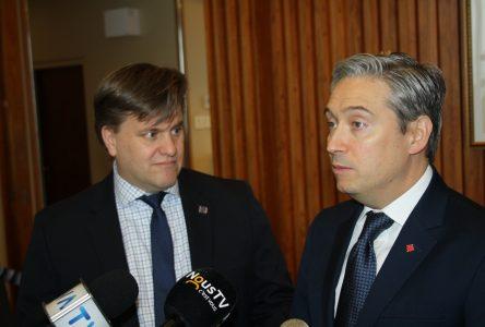 Port et rail au menu du ministre Champagne