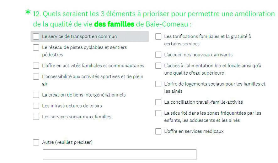 Baie-Comeau entame le renouvellement de sa politique familiale