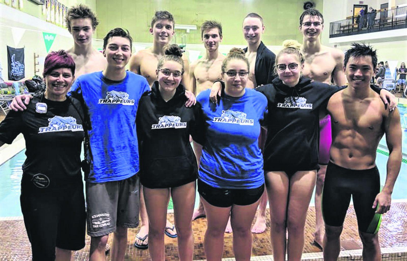 Sport collégial – Le nageur Xavier Brochu se couvre d'or à Sherbrooke