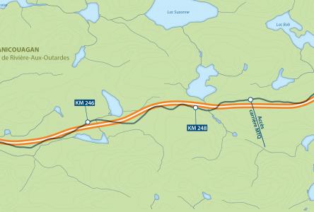 Route 389 : début des travaux au nord de Manic-5