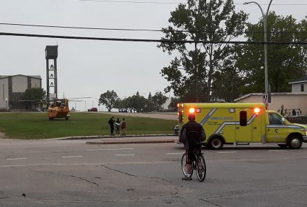 L'hélico des Forces armées pour un motocycliste blessé