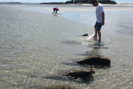 Un archéologue expertise l'épave des Îlets-Caribou
