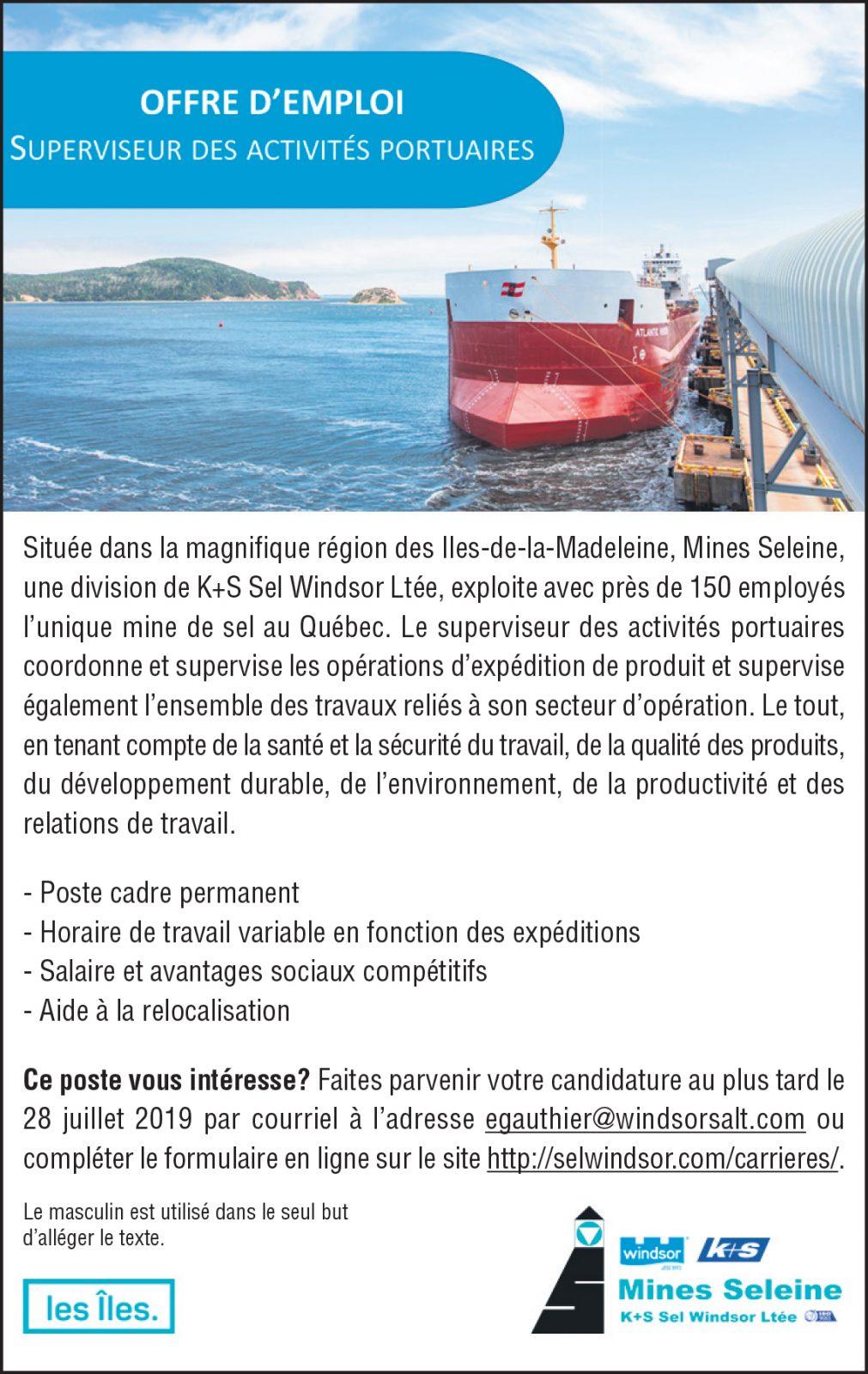 Superviseur des activités portuaires