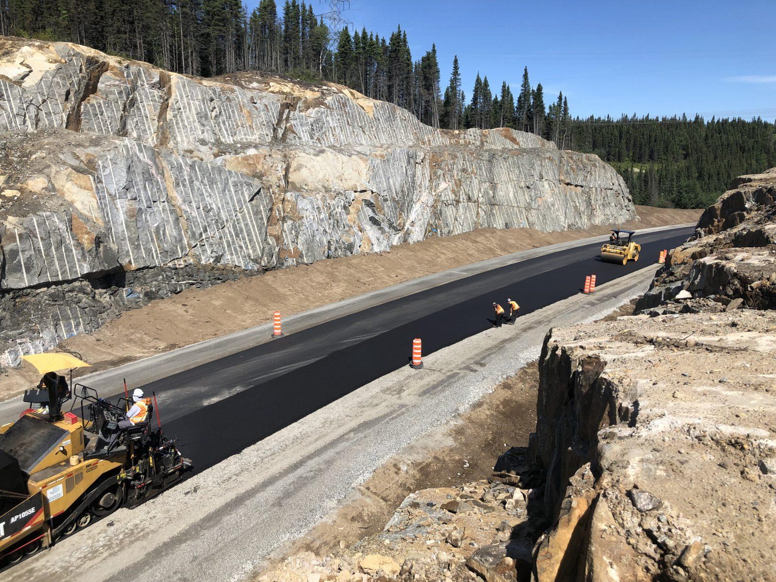 Le chantier du km 42 de la route 389 se termine