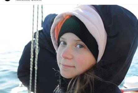 Greta Thunberg à la rencontre des bélugas de Tadoussac