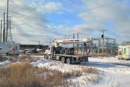 Hydro-Québec fait des travaux près du poste Bégin
