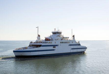 Saaremaa I à quai : le canot de sauvetage en cause
