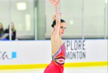 Patinage artistique : Kim Decelles frôle le podium à Edmonton