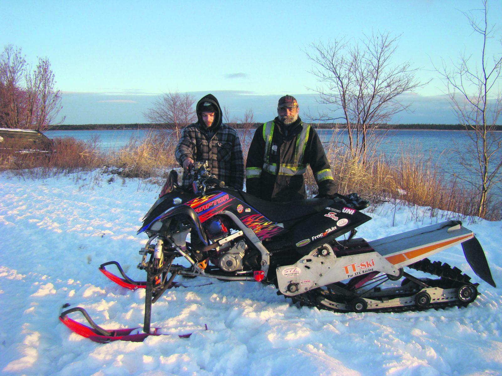 Le TT-ski transforme un VTT en motoneige