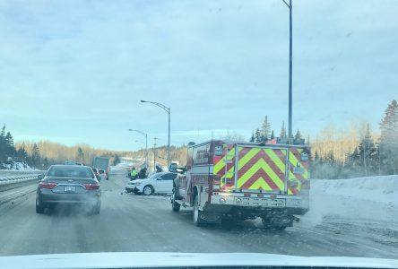 Accident sur le boulevard Pierre-Ouellet
