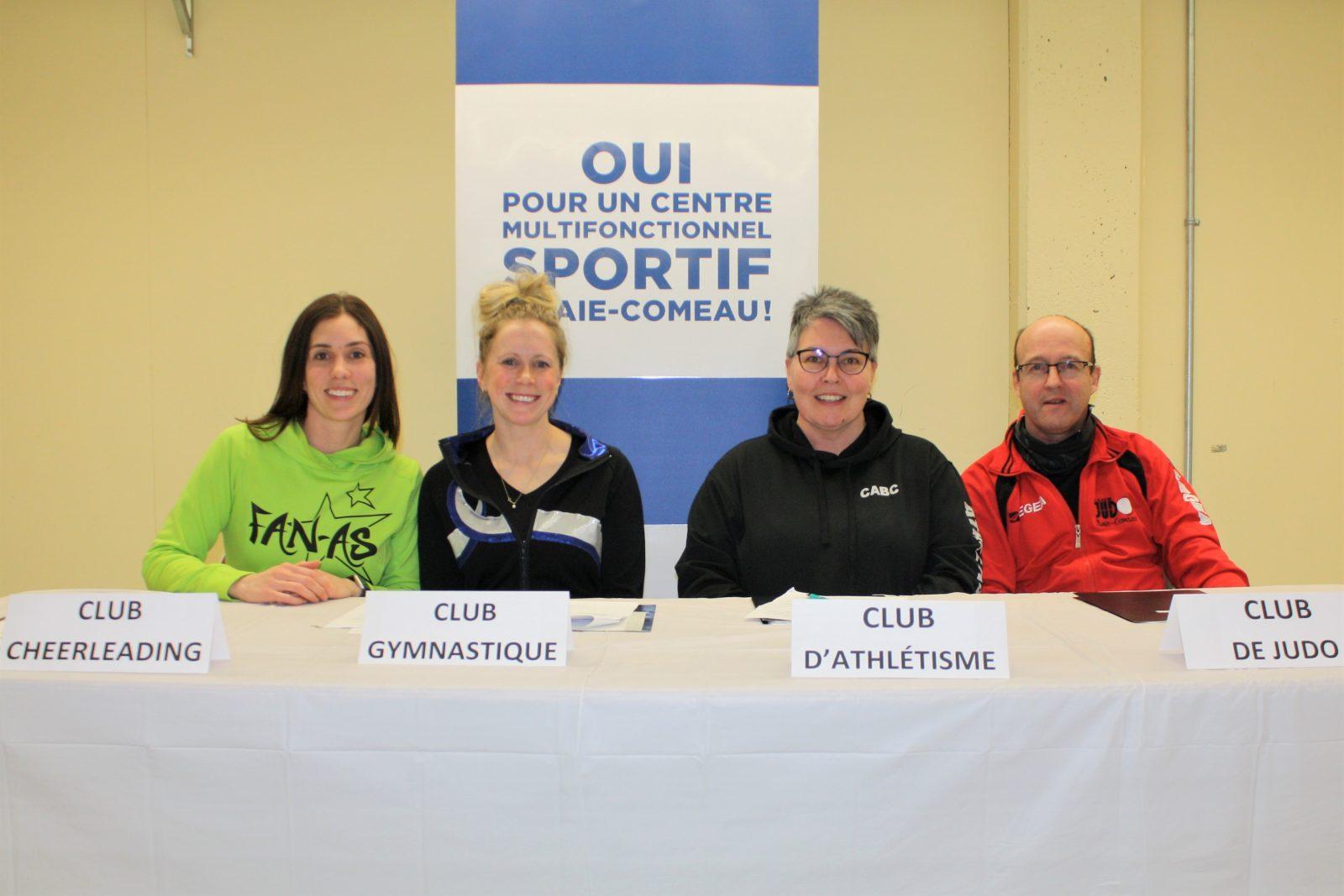 Quatre clubs sportifs présentent un projet de centre multifonctionnel à Baie-Comeau