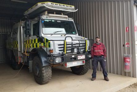 Le pompier forestier Peter Langlais revient comblé par l'Australie
