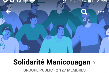COVID-19 : la bienveillance sur Facebook avec Solidarité Manicouagan