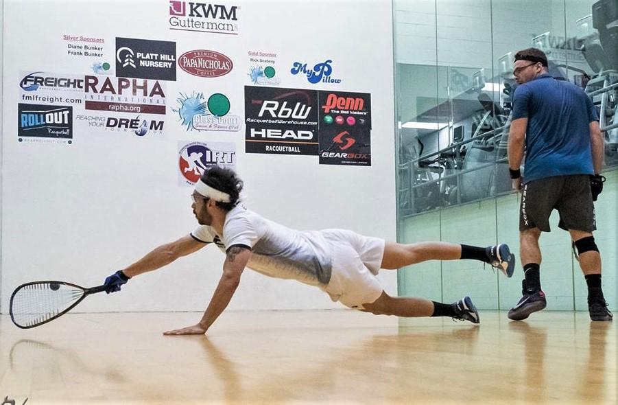 Circuit IRT de racquetball: Samuel Murray s'incline en quart de finale