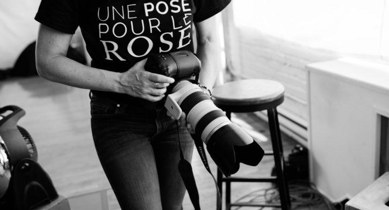 Une pose pour le rose de retour en avril à Baie-Comeau