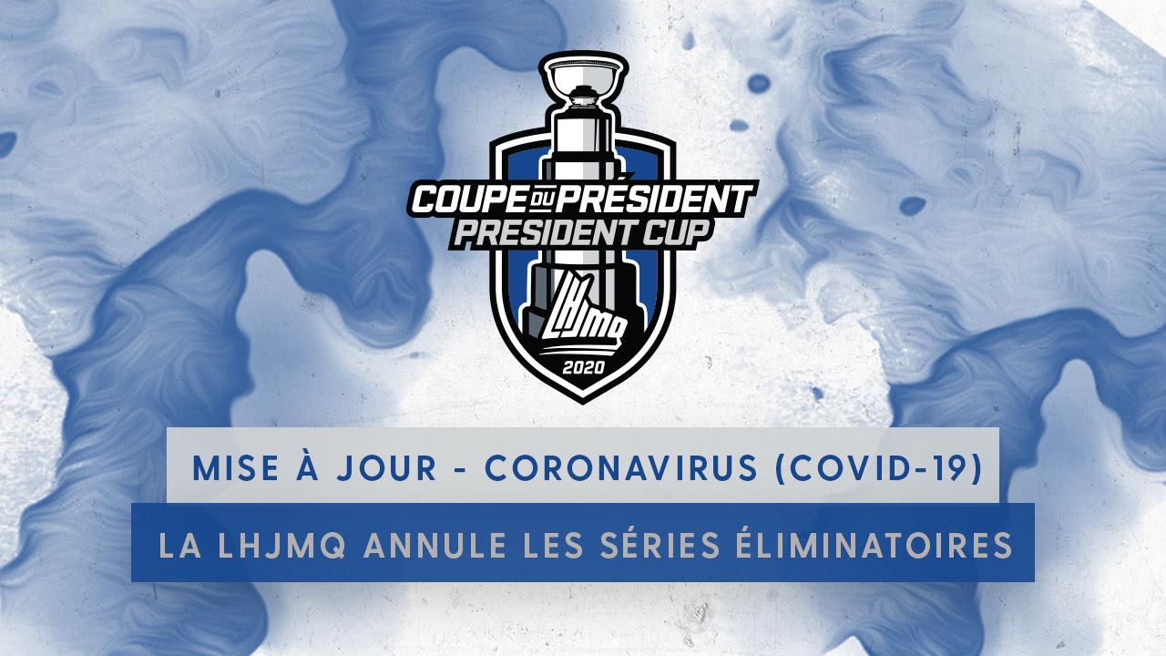 COVID-19 : tout est fini au hockey junior majeur