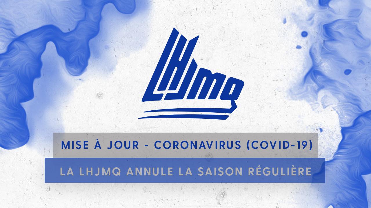 COVID-19 : la LHJMQ annule le reste de sa saison