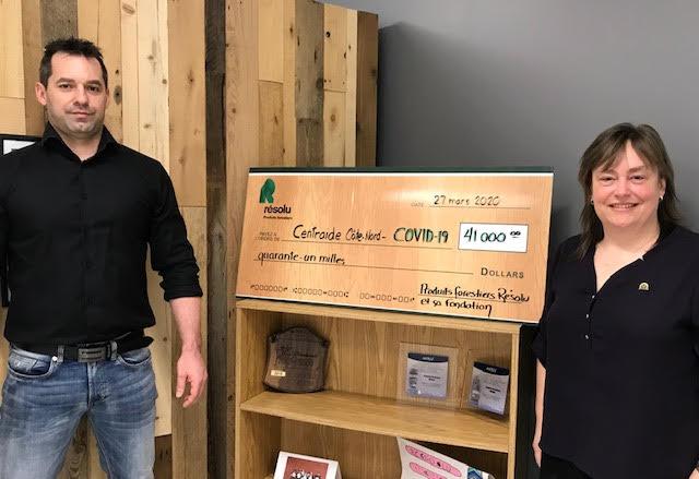 COVID-19 : PFR y va d'un don de 41 000 $ au fonds d'urgence de Centraide