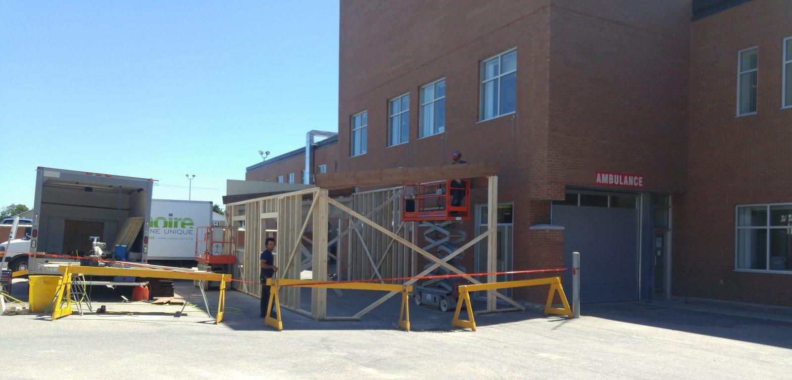 COVID-19 : la nouvelle clinique de dépistage de Baie-Comeau prend forme