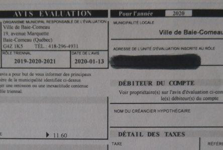 Congé d'intérêt sur taxes impayées : Baie-Comeau se tire bien d'affaire