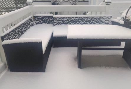 Baie-Comeau reçoit sa première chute de neige de l'hiver