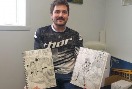 Un employé fier et un dessinateur talenteux
