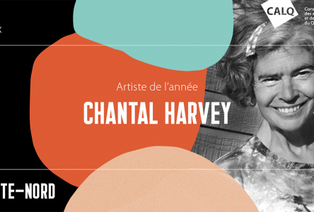 Le CALQ remet le prix Artiste de l'année sur la Côte-Nord à Chantal Harvey