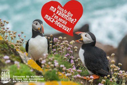 Tourisme Côte-Nord souligne la fête de l'amour!